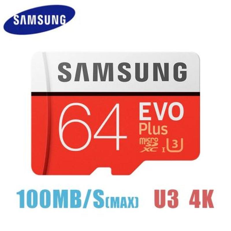 Карта памяти Samsung EVO Plus 64Gb SDXC UHS-1 U3 Class 10 Micr...