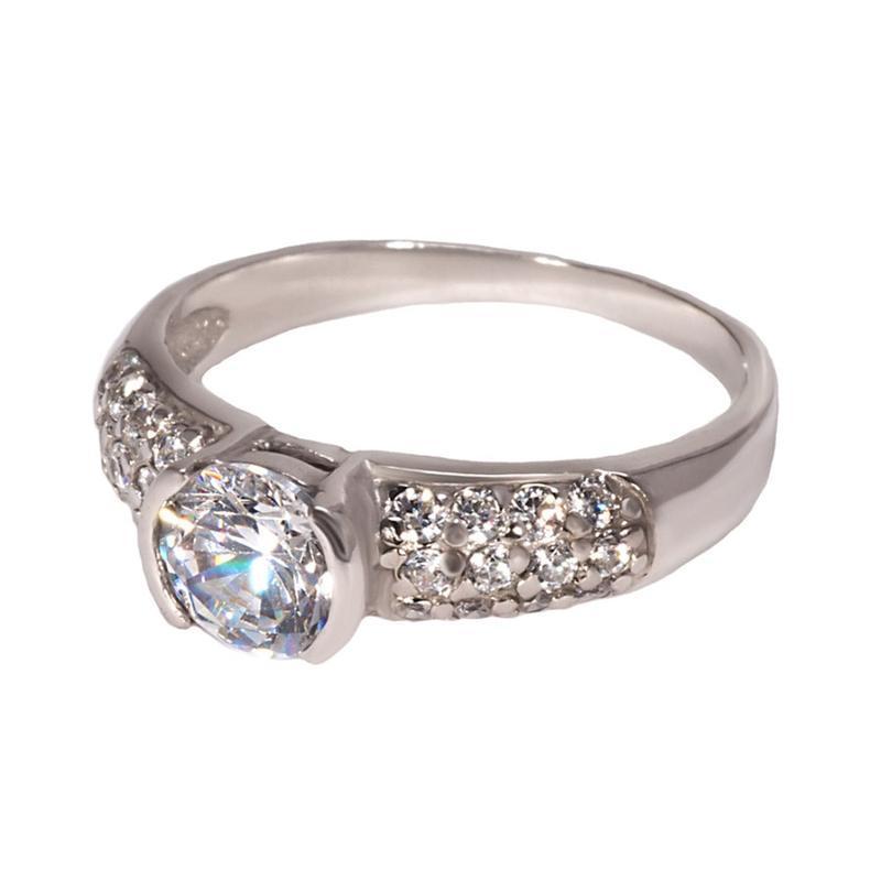 Серебряное кольцо со вставками «дева»