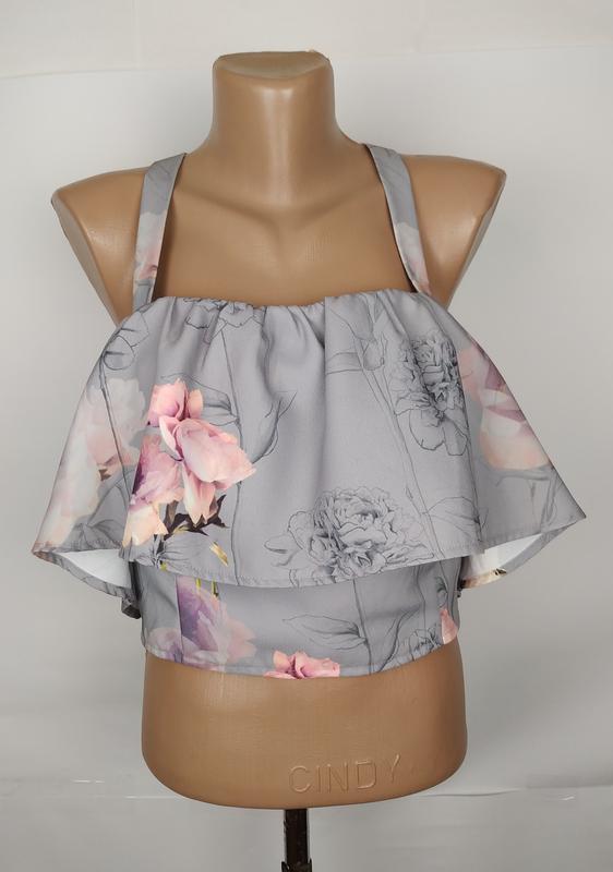 Блуза топ новая красивая в цветы оригинал asos uk 12/40/m