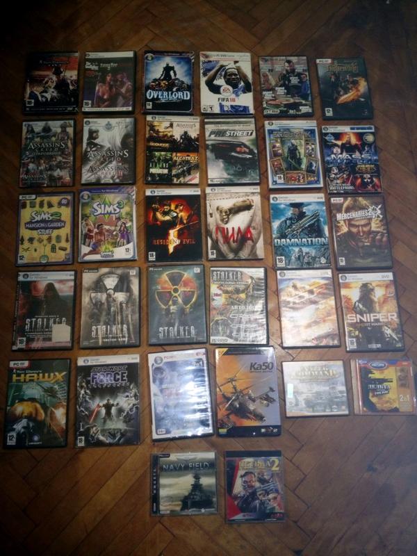 Игровые диски на ПК (DVD) все по размеру адинаковые