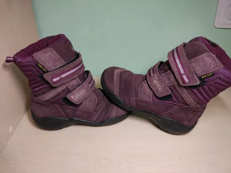 Ботинки сапоги  ecco для девочки