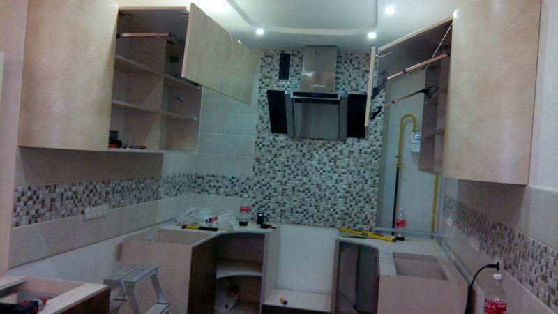 Сборка установка кухни.