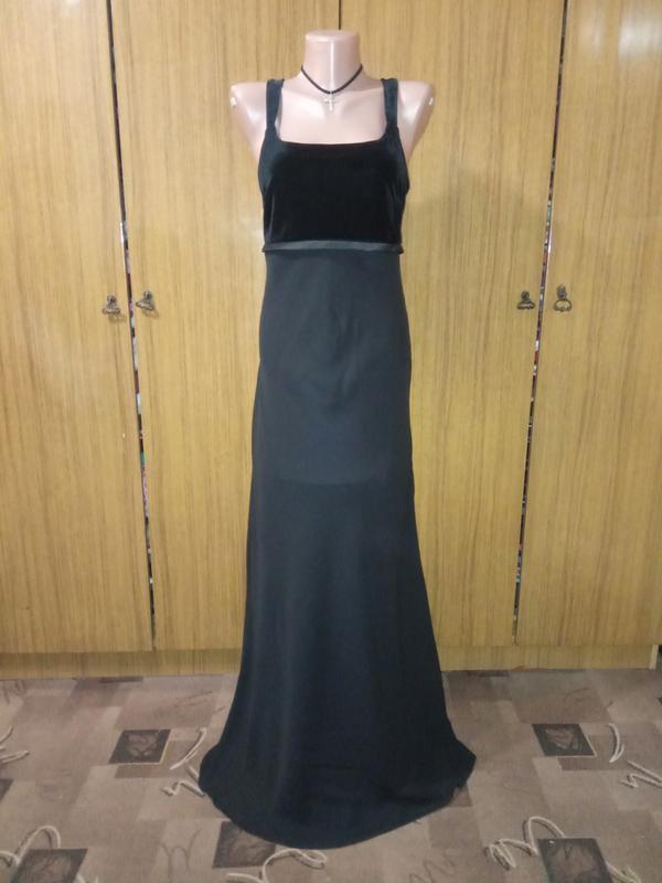 Вечернее шифоновое с велюром платье