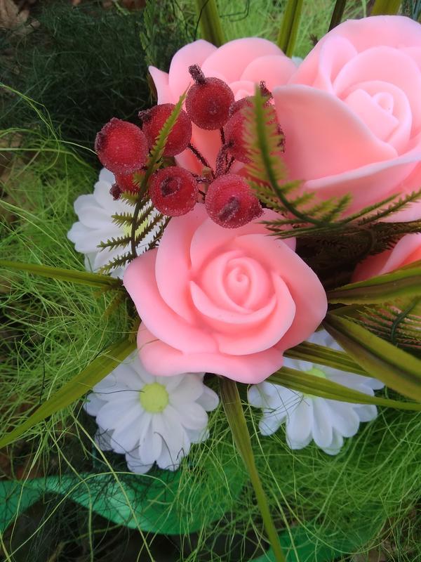 Мыльный букет из роз ручной работы