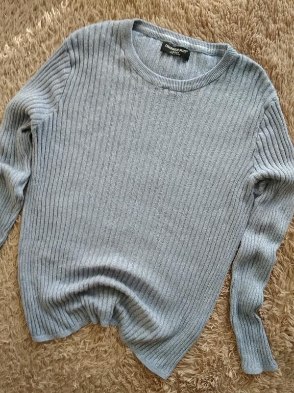 Актуальний, натуральний свитер в нежно-голубом цвете от cedarw...