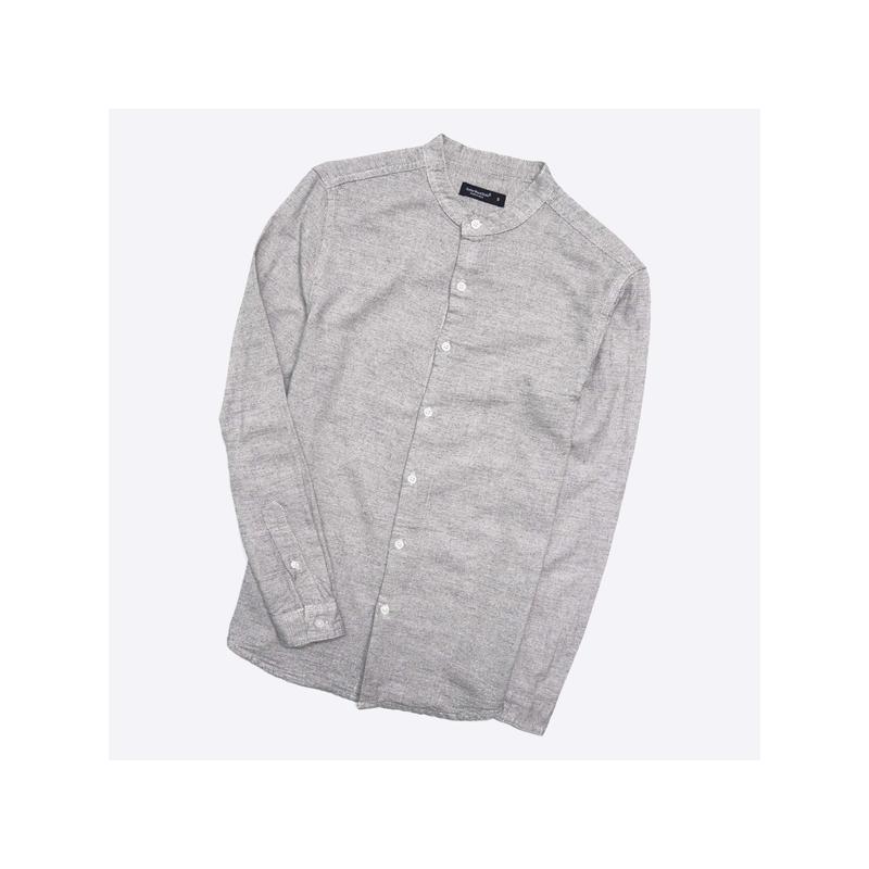 Cedarwood state s / серая рубашка с воротником-стойкой (без во...