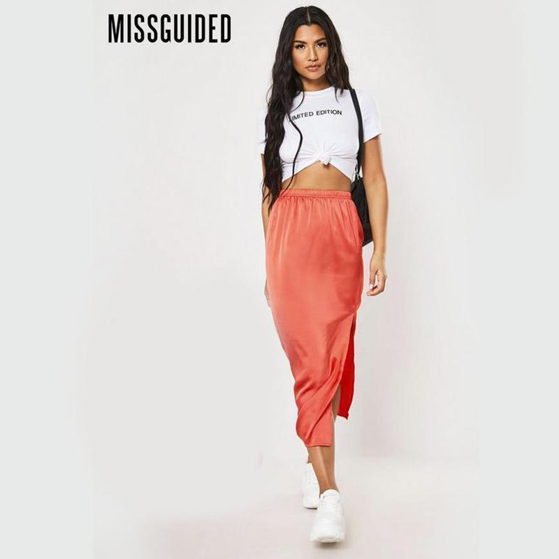 Новая легкая юбка с разрезами по бокам missguided