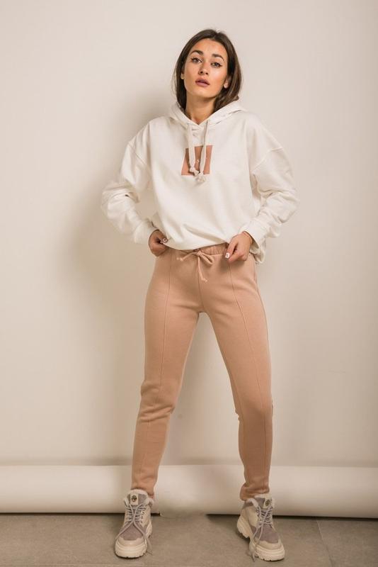 Повседневные, спортивные женские штаны с начесом