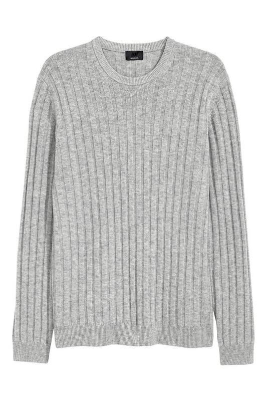 Мужской свитер h&m 100 шерсть размер s