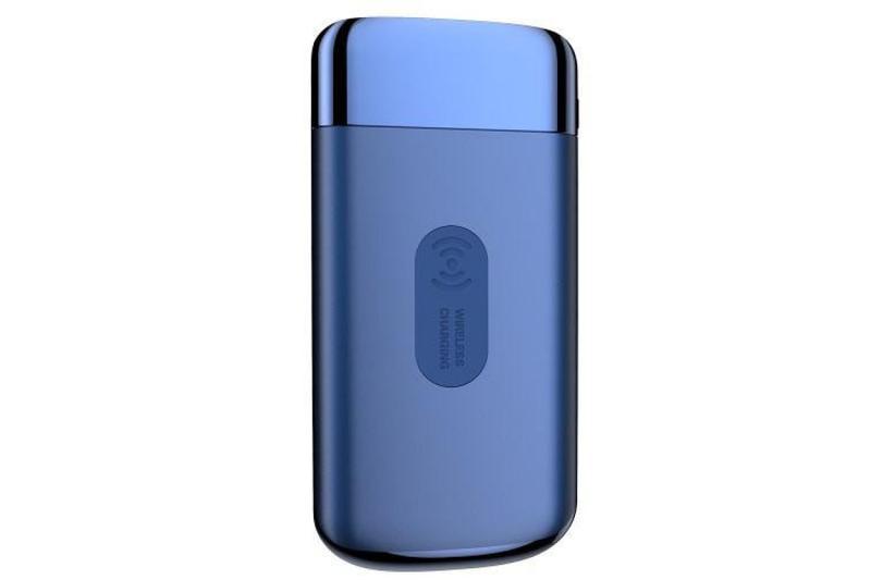 Беспроводной павербанк (УМБ) Power Bank 8000 mAh Blue