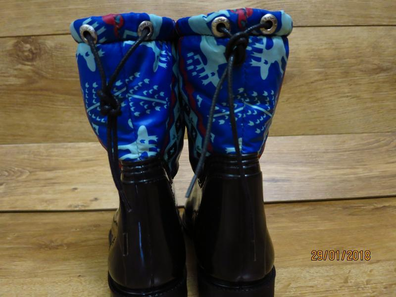 Женские резиновые утепленные сапоги,полусапоги,ботинки,для дев... - Фото 5