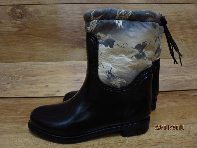 Женские резиновые утепленные сапоги,полусапоги,ботинки,для дев... - Фото 6