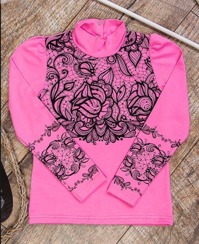 Красивая нарядная блузка для девочки в школу(цвет розовый и ма...