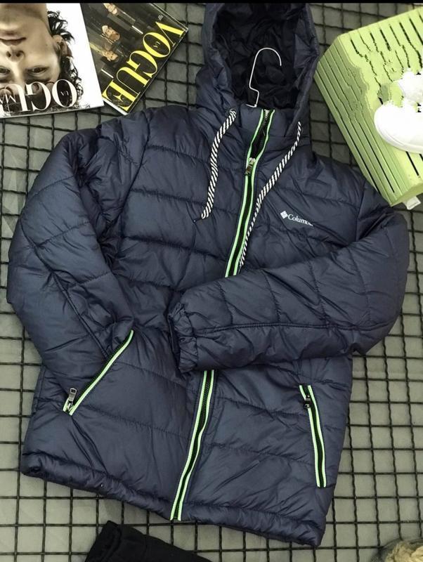 Зимняя теплая мужская куртка, пуховик, парка подросток, см.опи...