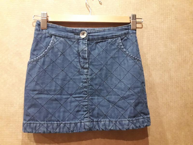 Утепленная джинсовая юбка