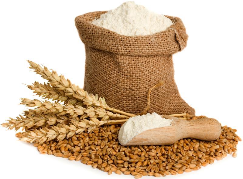 Муку , манную курупу и пшеничные отруби