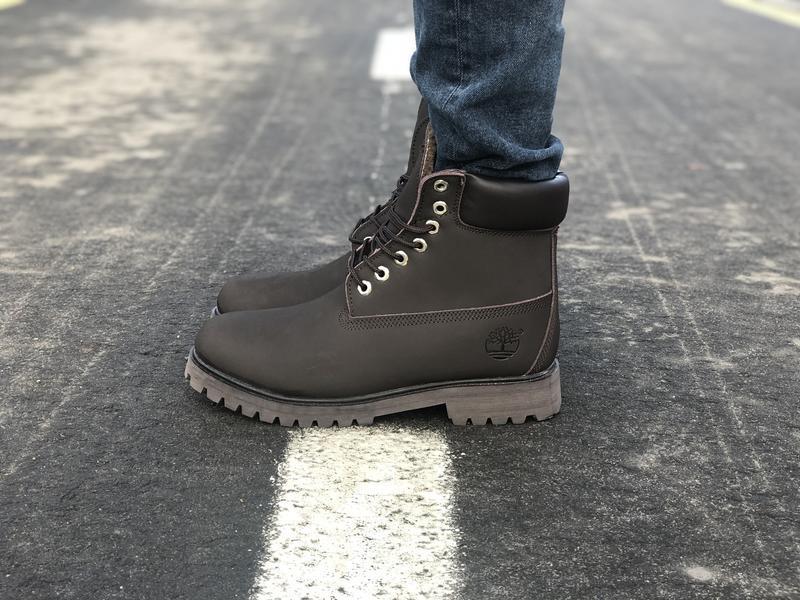 Шикарные мужские  зимние ботинки timberland brown с мехом