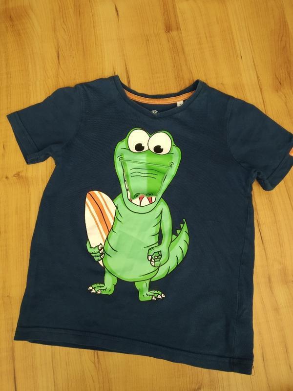 Классная футболка с крокодилом на 4-6 лет