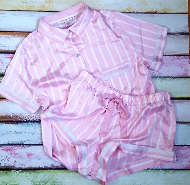 Пижама в полоску от victoria's secret🍒