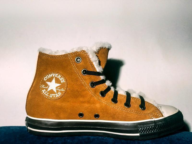 Converse all star женские замшевые кеды на меху, оригинал!