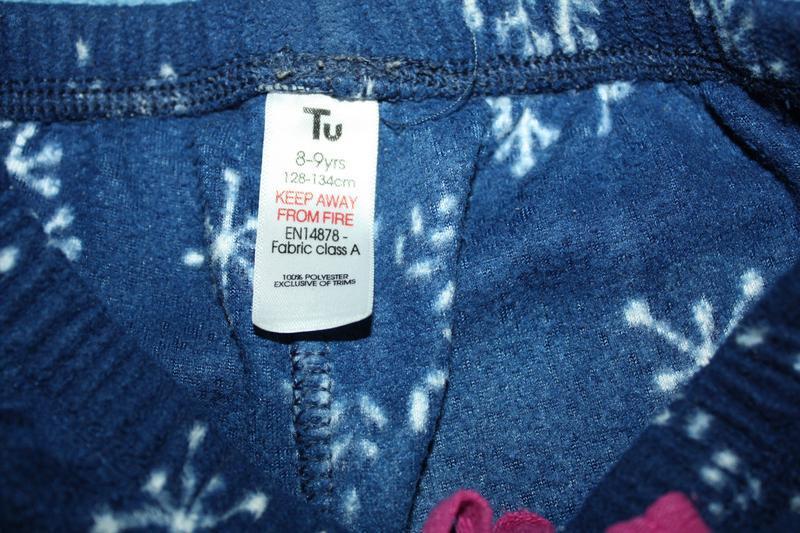 Флисовая пижама ф.tu для девочки р-128/134 (8-9лет) хорошее со... - Фото 3