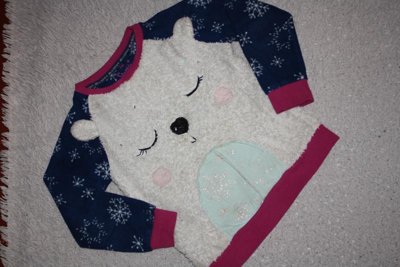 Флисовая пижама ф.tu для девочки р-128/134 (8-9лет) хорошее со... - Фото 4