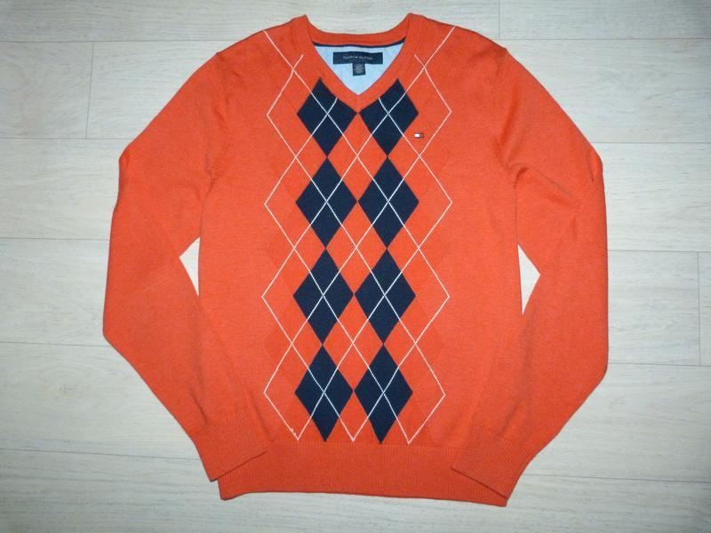Тонкий свитер, пуловер tommy hilfiger размер xs