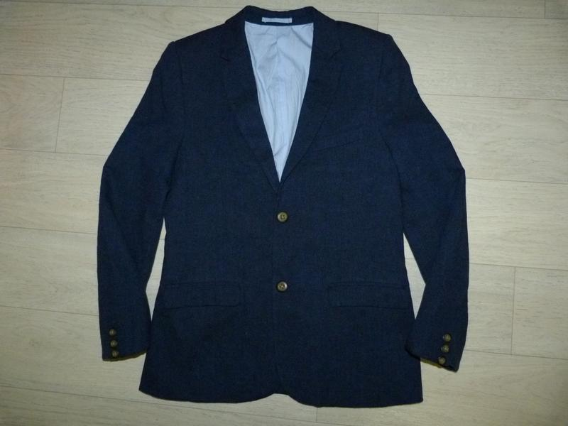 Котоново-льняной пиджак m&s 12-13 лет
