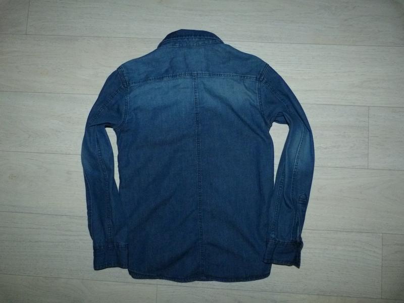 Джинсовая рубашка george 8-9 лет - Фото 2