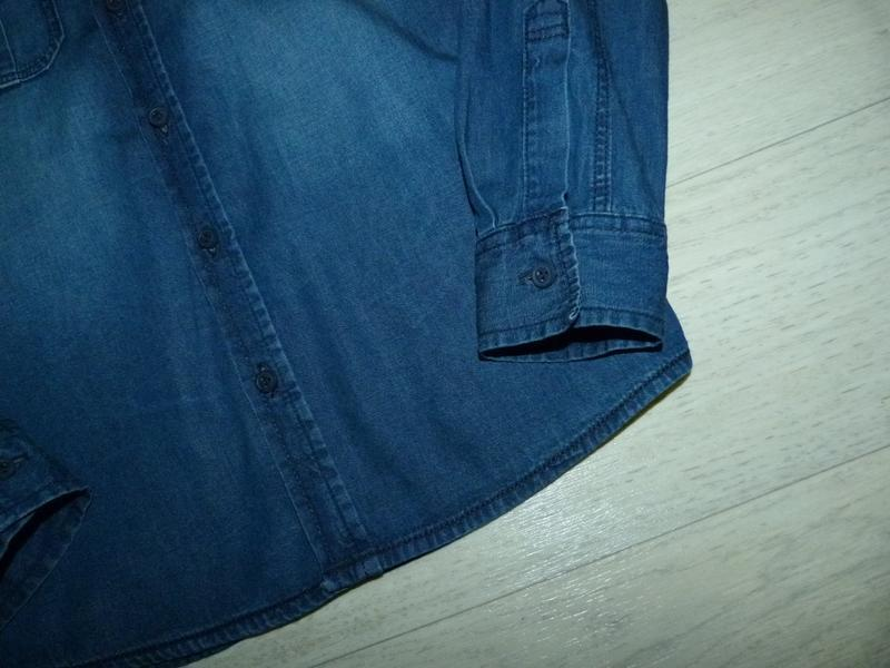 Джинсовая рубашка george 8-9 лет - Фото 4