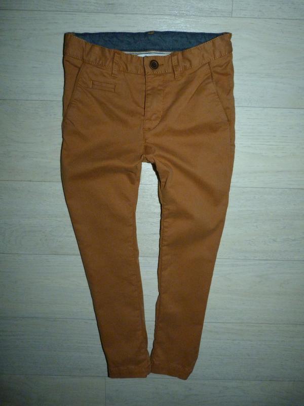 Котоновые скинни, штаны, брюки h&m 4-5 лет