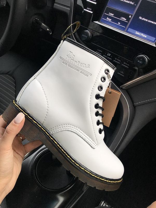 Dr. martens 1460 fur white 🤗 женские зимние ботинки мартинс с ...