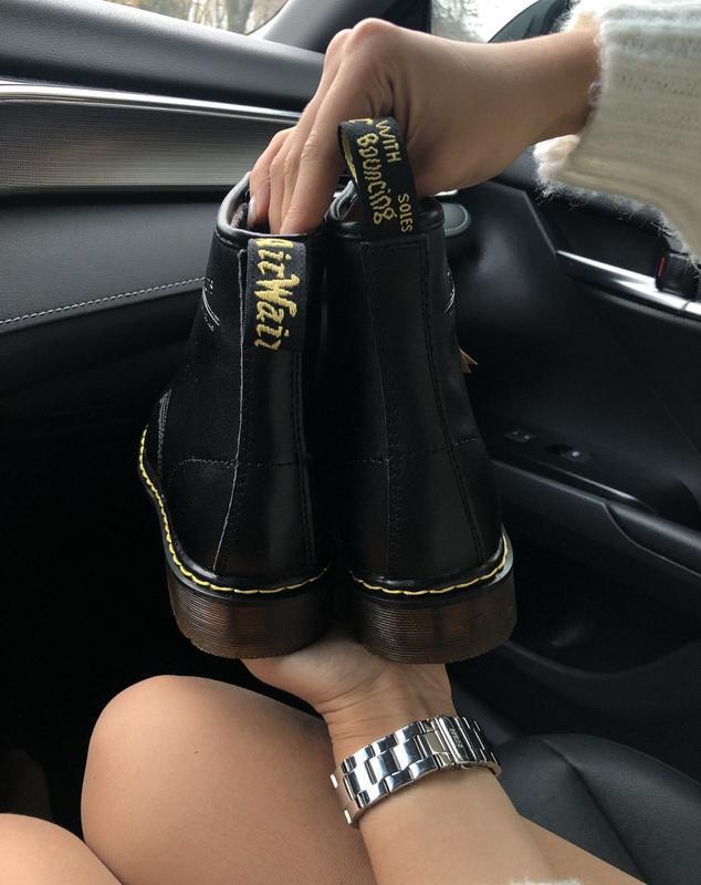 Dr. martens 1460 fur black 🤗 женские зимние ботинки мартинс с ... - Фото 3