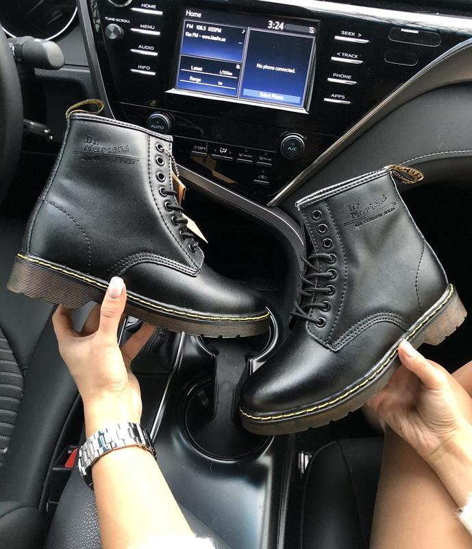 Dr. martens 1460 fur black 🤗 женские зимние ботинки мартинс с ... - Фото 4