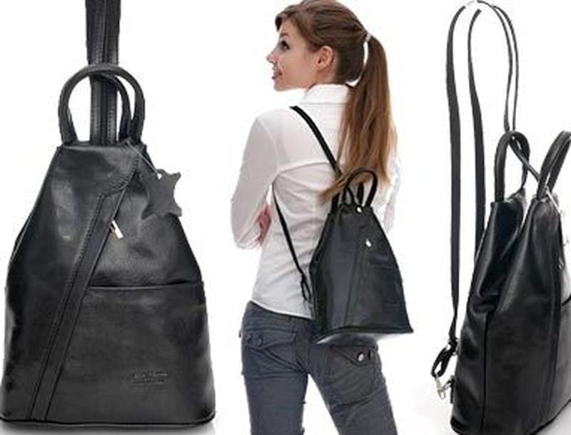 Женский кожаный городской рюкзак vera pelle