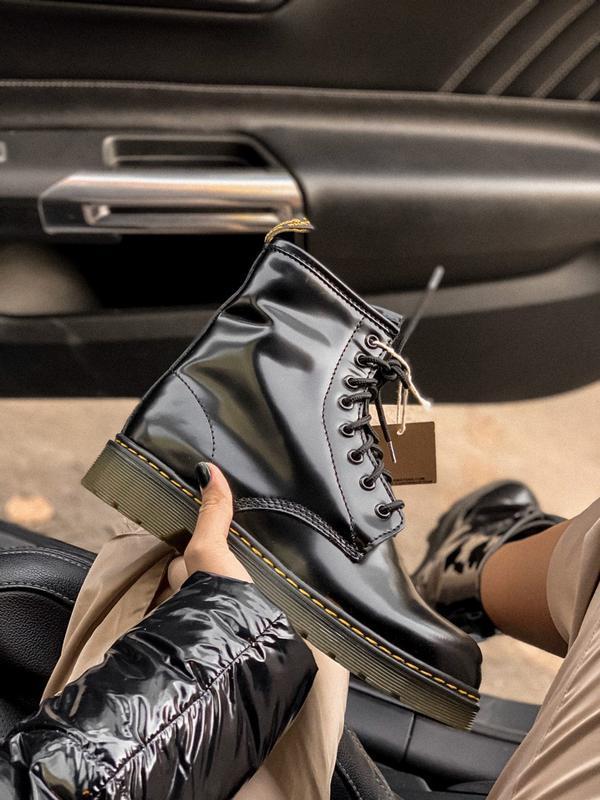 Dr.martens 1460 black fur 🤗 женские зимние ботинки с мехом зима