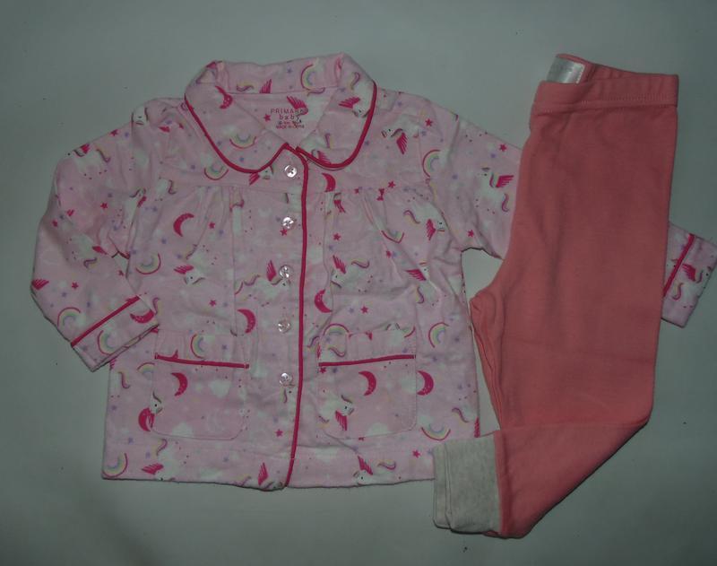 Пижама байка-трикотаж primark англия 6-9 мес 74 см