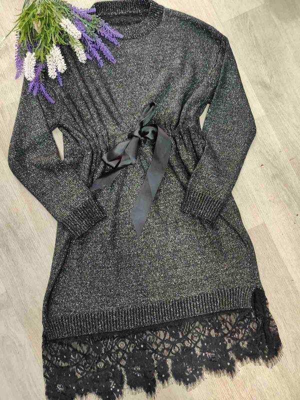 Туника платье с люрексом