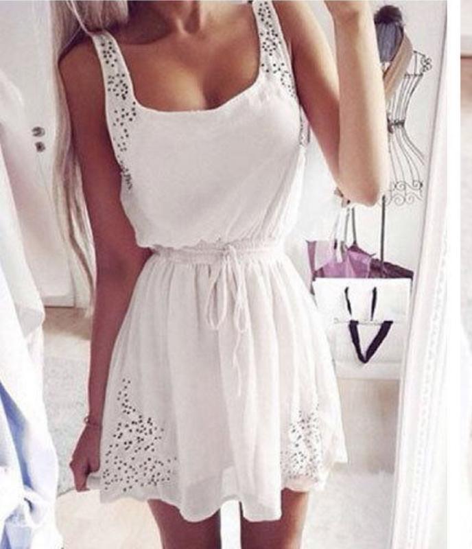 Легкий белоснежный нежнейший сарафан-платье