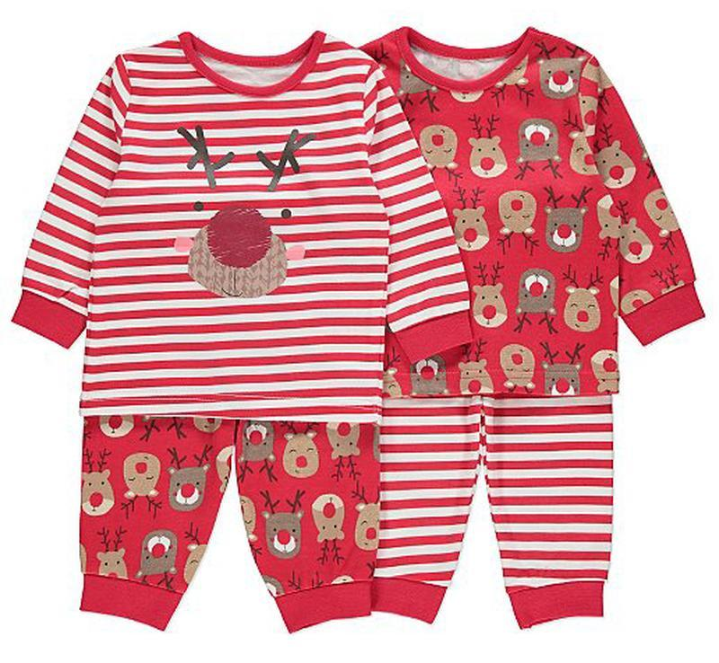 George набор новогодних пижам на 1-1,5 года