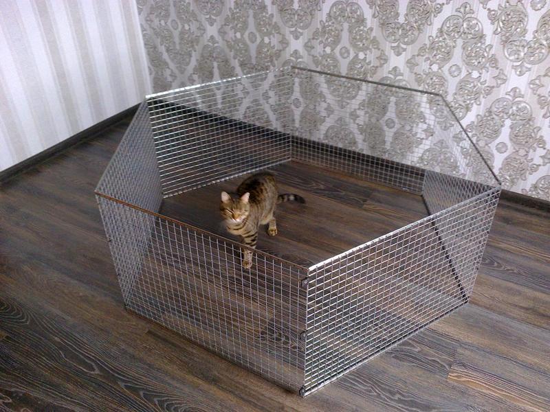 Вольер манеж клетка для небольших собак щенков кроликов котят и п - Фото 2