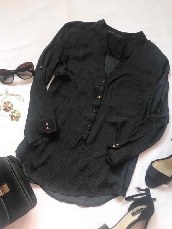 Блуза в горох zara р.м