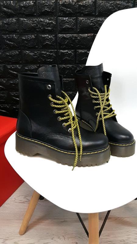 Хит-2019. натуральная кожа. брендовых зимние кожаные ботинки б...