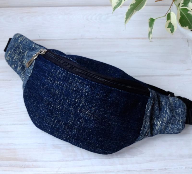 Сумка-бананка джинсовая, поясная сумка 69(1)//сумка-бананка дж...