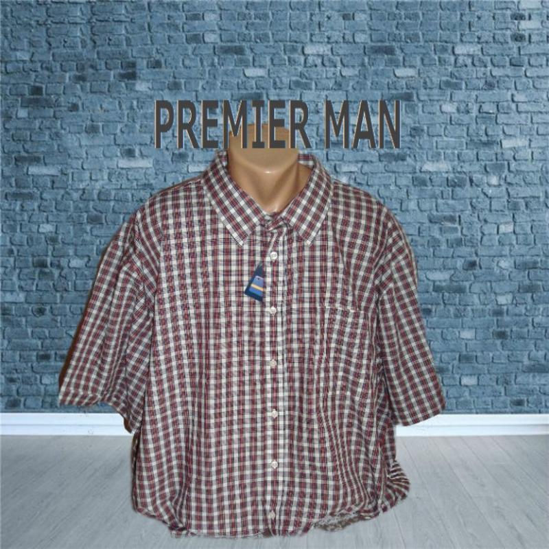 🍀🍀premier man летняя мужская рубашка супер большой размер 4 xl...