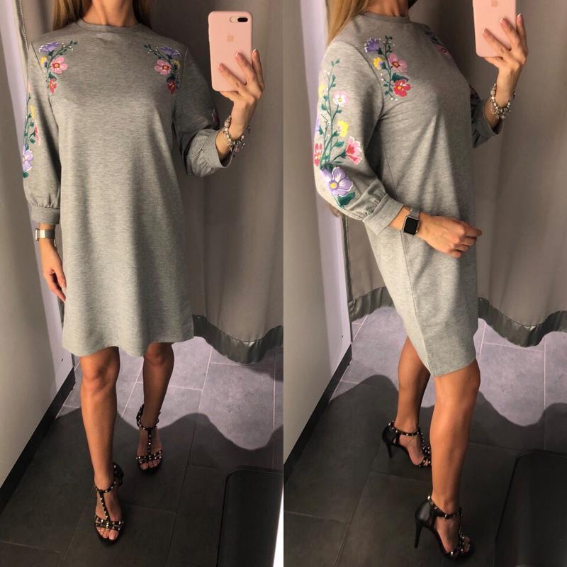 Плотное платье свитшот свободное платье amisu размер xs