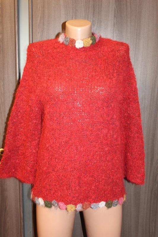 Теплая кофта из шерсти альпака amano в идеальном состоянии m-l