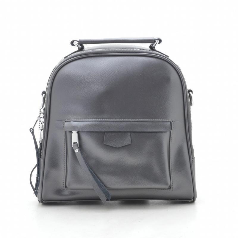 Новый женский городской кожаный серый рюкзак