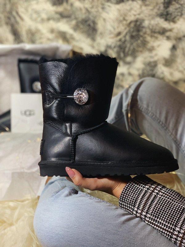 Ugg bailey button! женские кожаные зимние угги/ сапоги/ ботинк...
