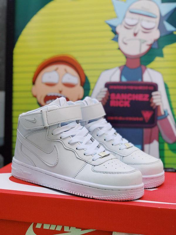 Шикарные женские белые кроссовки nike air force 1 high 😍